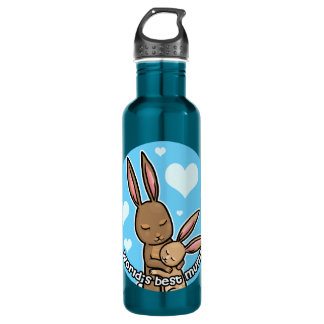 Worlds best Mum Bunny 710 Ml Water Bottle