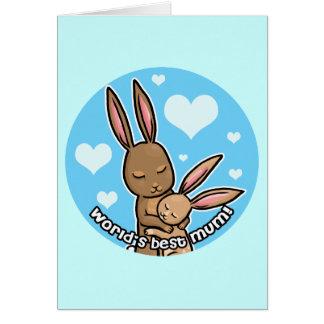 Worlds best Mum Bunny Card