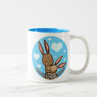 Worlds best Mum Bunny Two-Tone Coffee Mug
