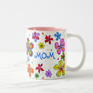 World's Best Mum Illustrated Two-Tone Coffee Mug