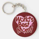 World's BEST Mum! Keychains