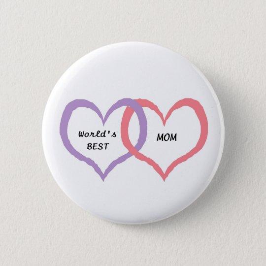 World's best Mum pin