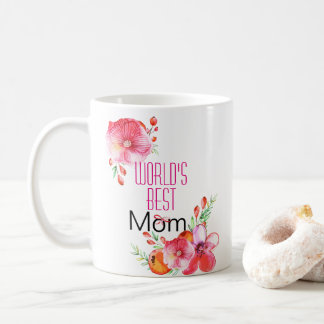 World's Best Mom Watercolor Floral Mother's Day