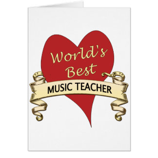 World's Best Music Teacher Card