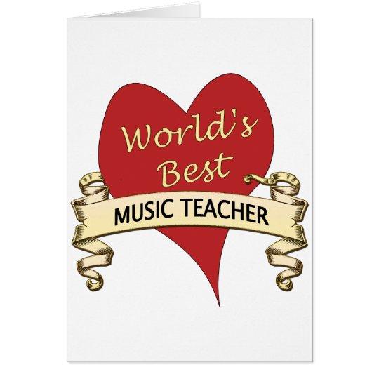 World's Best Music Teacher Card