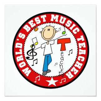 World's Best Music Teacher Personalized Invites