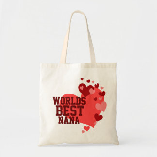 Worlds Best Nana Personalized Tote Bags