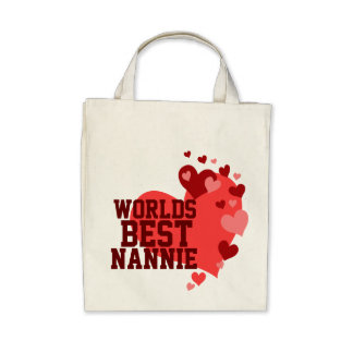 Worlds Best Nannie Personalized Bags
