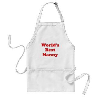 Worlds Best Nanny Apron