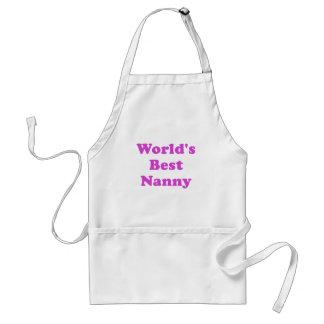 Worlds Best Nanny Adult Apron