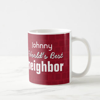World's Best NEIGHBOR Ruby Red Mosaic V12 Coffee Mug