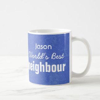 World's Best NEIGHBOUR Blue Custom Name JASON Coffee Mug