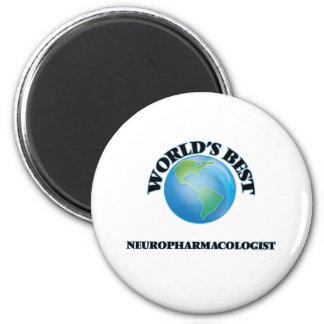 World's Best Neuropharmacologist 6 Cm Round Magnet