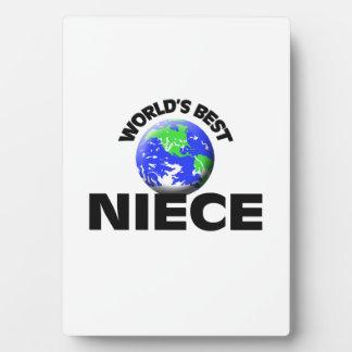 World's Best Niece Photo Plaques