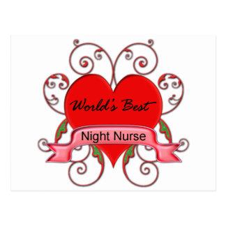 World's Best Night Nurse Postcard