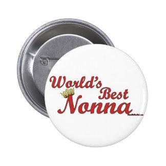 World's Best Nonna 6 Cm Round Badge
