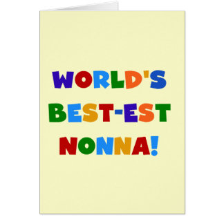World's Best Nonna Bright Colors T-shirts and Gift Card