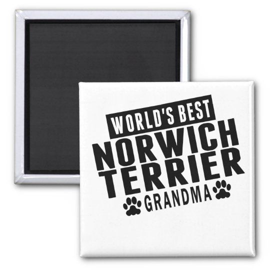 World's Best Norwich Terrier Grandma Square Magnet