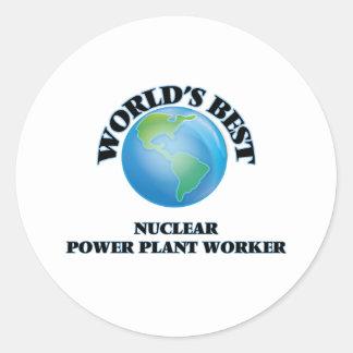 World's Best Nuclear Power Plant Worker Round Sticker