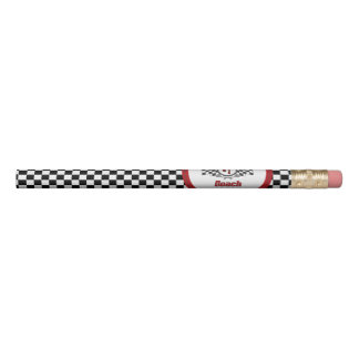 World's Best Number One Coach Checkered Flag Pencil