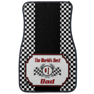 World's Best Number One Dad Racing Theme Car Mat