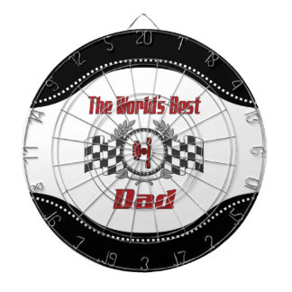 World's Best Number One Dad Racing Theme Dartboard