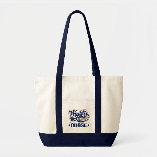 Worlds Best Nurse Canvas Bag