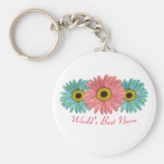 World's Best Nurse Basic Round Button Key Ring