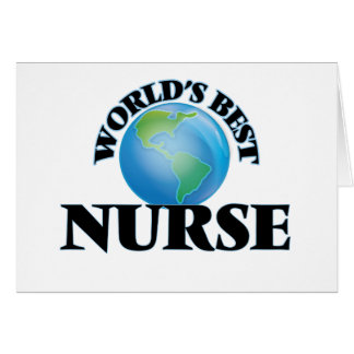 World's Best Nurse Greeting Card