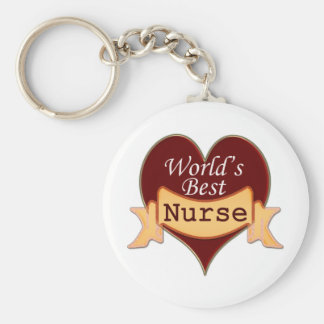 World's Best Nurse Key Ring
