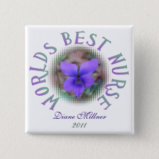 Worlds Best Nurse Personalized Button