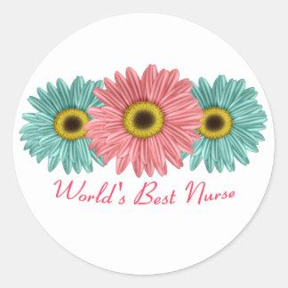 World's Best Nurse Round Sticker