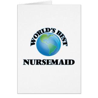 World's Best Nursemaid Greeting Cards