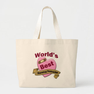 World's Best Nursing Instructor Jumbo Tote Bag