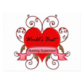 World's Best Nursing Supervisor Postcard