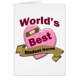World's Best Nursing Sutdent Greeting Card