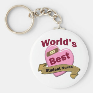 World's Best Nursing Sutdent Basic Round Button Key Ring