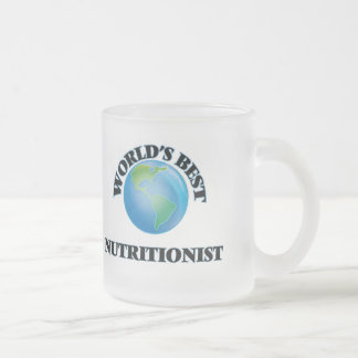 World's Best Nutritionist Frosted Glass Coffee Mug