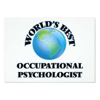 World's Best Occupational Psychologist Custom Invitation Card