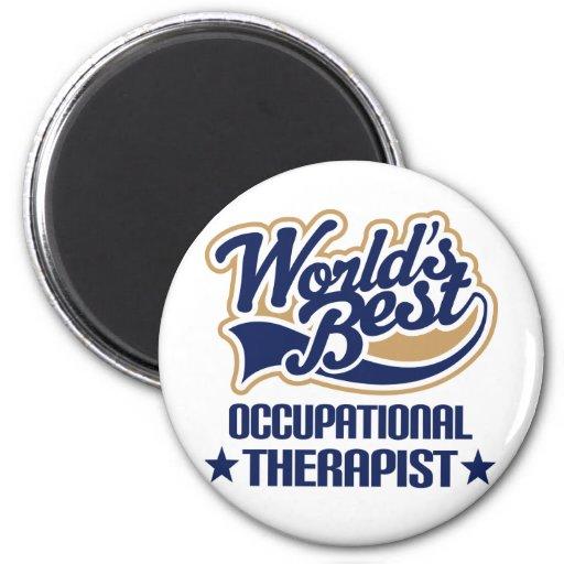 Worlds Best Occupational Therapist Refrigerator Magnet