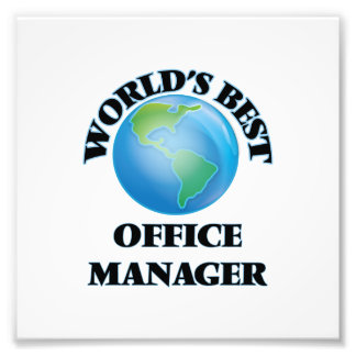 World's Best Office Manager Photo