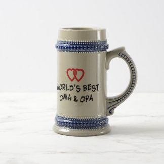 World's Best Oma & Opa Gift Beer Stein