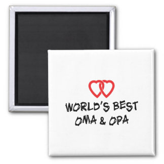 World's Best Oma & Opa Magnet
