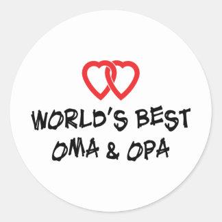 World's Best Oma & Opa Round Sticker