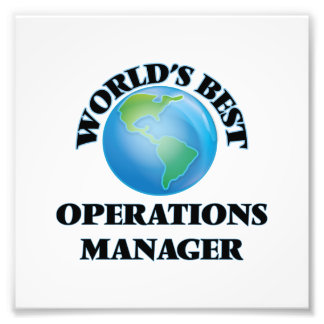 World's Best Operations Manager Photo Art