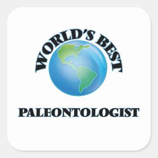 World's Best Paleontologist Square Sticker