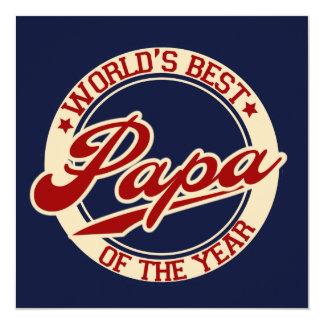 World's Best Papa 13 Cm X 13 Cm Square Invitation Card