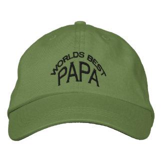 World's Best Papa Hat (dark letters)