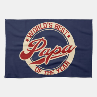 World's Best Papa Tea Towel