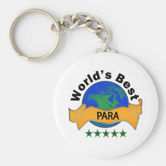 World's Best Para Basic Round Button Key Ring